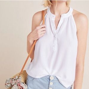 Cloth & Stone Henley Halter Tank Top Small